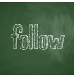 follow icon vector image