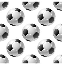 Football or soccer ball seamless pattern vector