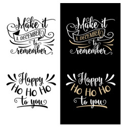 funny christmas quotes collection vector image