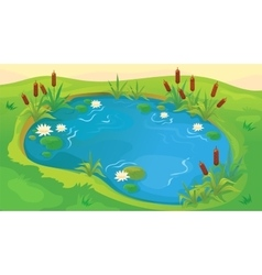 Game Background Of Pond vector