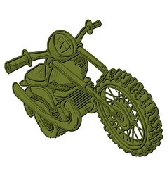 Green Motorcycle vector