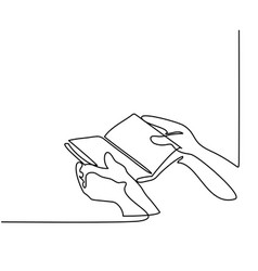 Hands holding the bible book vector