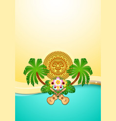 hawaiian document background in polynesian style vector image