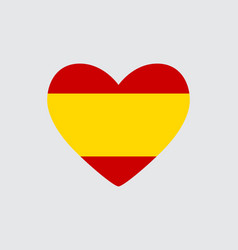 Heart in colors of the spanish flag vector