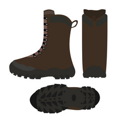 Hiking shoes boots isolated vector