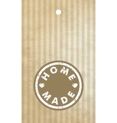 Homemade label - design element vector