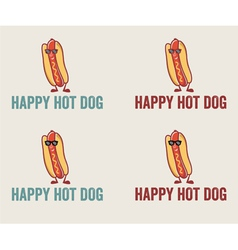 Hot Dog Cartoon Character Wearing Sunglasses vector image