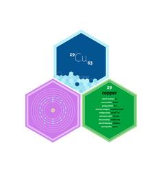 Infographics element copper vector