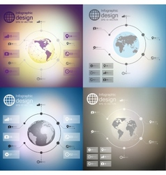 Infographics set templates for business design vector image