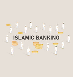 islamic banking concept managing money using vector image