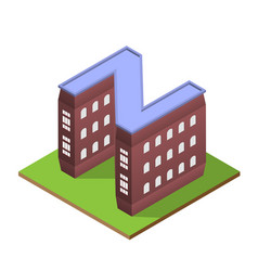 isometric building letter z form vector image