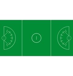Lacrosse field vector image