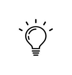 Light bulb icon1 vector