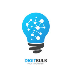 light bulb logo inspiration icon new idea vector image