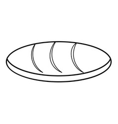 Loaf icon outline style vector