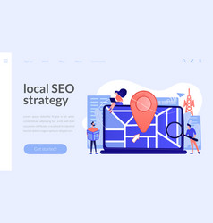Local search optimization concept landing page vector