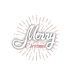 Merry christmas and happy new year 2017 hand vector image