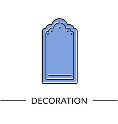 mirror decoration furniture line icon vector image