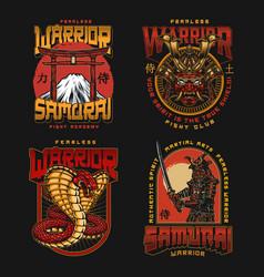 Mixed martial arts fight club logos vector