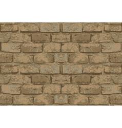 Old brick wall pattern vector