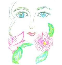 Painted Stylized Face3 vector image