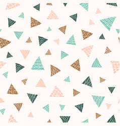 pastel scattered triangles seamless pattern vector image