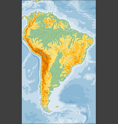 physical south america map vector image