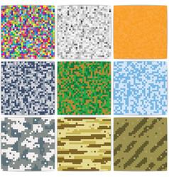 Pixel background camouflage duotone retro vector