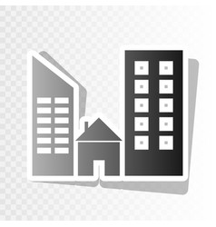 real estate sign new year blackish icon vector image