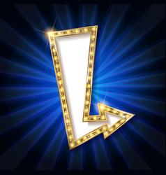 Retro light sign vector