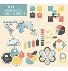 Retro vintage Infographic template business vector