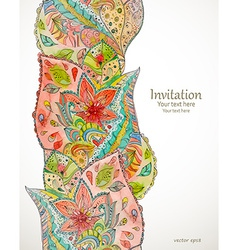 Seamless border with magic pattern watercolor vector