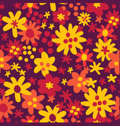 seamless pattern background with autumn vector image