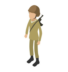 Soldier army icon isometric 3d style vector