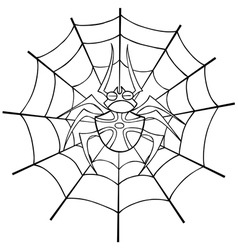 Spider web tattoo outline vector