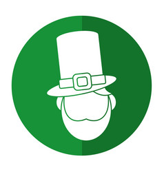 St patricks day face leprechaun shadow vector