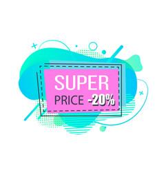 Super price 20 percent off cost banner shop vector