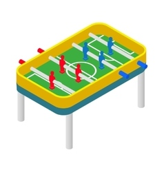 Table football icon isometric 3d style vector