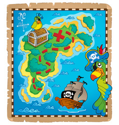 Treasure map topic image 9 vector