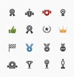 Trophy and prize symbol icons vector image