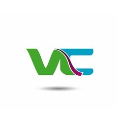 VC logo vector image