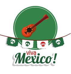Viva mexico - guitar festival poster vector