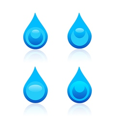 Water drop icons vector image