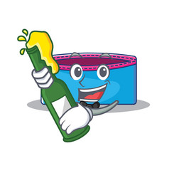 With beer pencil case character cartoon vector