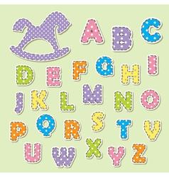 alphabet letters for kids vector image