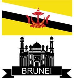 Brunei vector image