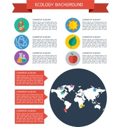 Flat ecology infographic background vector image