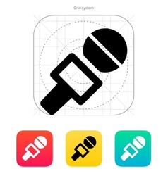 Journalist microphone icon vector image vector image