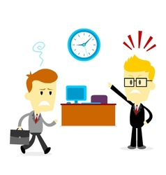 Late to work vector image vector image