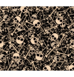 Skulls and bones Seamless background vector image